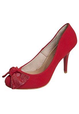 Sapato Scarpin FiveBlu Laço Vermelho