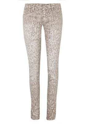 Calça Jeans Sawary Skinny Estampa Onça