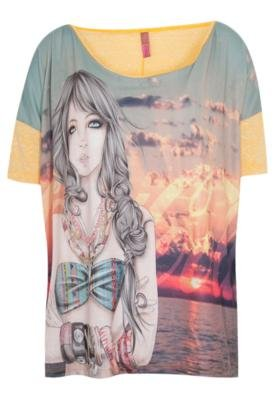 Blusa Loose Illustration Amarela - Coca Cola Clothing