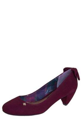Sapato Scarpin Cravo e Canela Laço Traseiro Vinho - Cravo &...