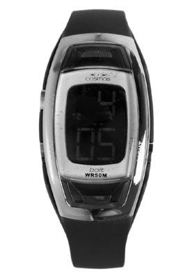 Relógio Cosmos OS48532V Preto/Prata