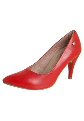 Sapato Scarpin Malu Super Comfort Bico Fino Basic Vermelho