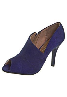 Ankle Boot Zíper Azul - Vizzano