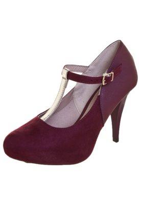 Sapato Scarpin Beira Rio Salomé Meia-Pata Embutida Vinho