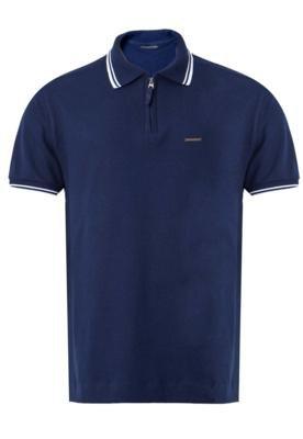 Camisa Polo Lucca Salvatore Basic Azul