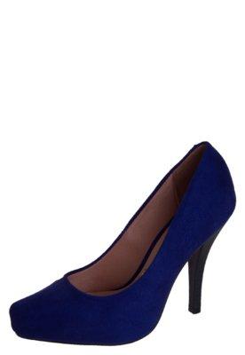 Sapato Scarpin Vizzano Bico Tubarão Meia-Pata Azul