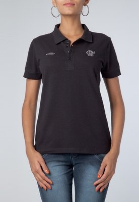 Camisa Polo Olympikus Flamengo Colors Preta