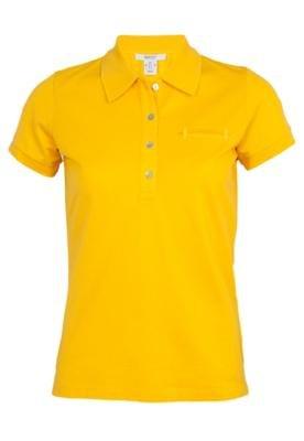 Camisa Polo Gant Mercerized Amarela