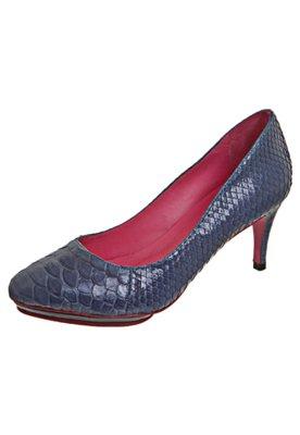 Sapato Scarpin Python Azul - Zeferino