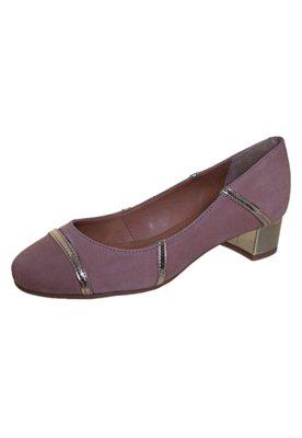 Sapato Scarpin Raphaella Booz Salto Baixo Recortes Rosa