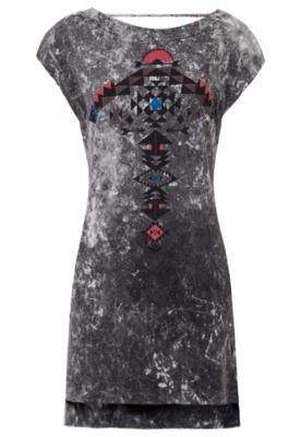 Vestido Redley Etnic Cinza