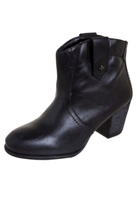 Ankle Boot  Cravo e Canela Vegetal Natural Preta - Cravo & C...