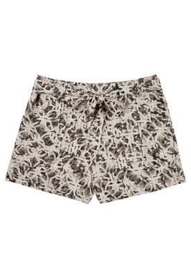 Shorts Cinto Carimbo Branco e preto - Cantão