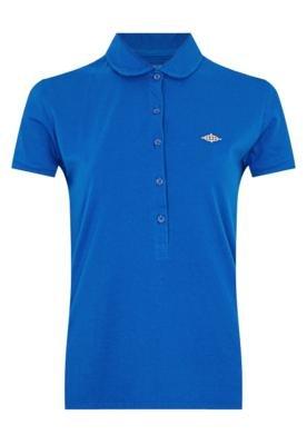 Camisa Polo Triton Justa Azul
