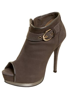 Ankle Boot Via Marte Fivela Cinza