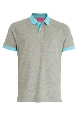 Camisa Polo Vicomte A. Bicolore Cinza