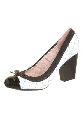 Sapato Scarpin Moleca Salto Grosso Matelassê Branco