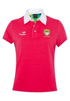 Camisa Polo Topper Rugby Rosa