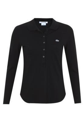 Camisa Polo Lacoste Classic Preta