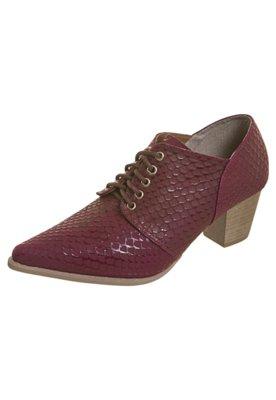 Ankle Boot Textura Vinho - FiveBlu