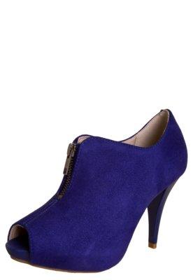 Ankle Boot Beira Rio Flex Azul