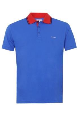 Camisa Polo Sommer Mini Bordado Azul