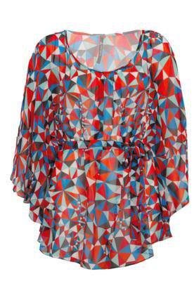 Blusa Totem Tunica Estampa Multicolorida