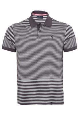 Camisa Pólo Pier Nine Bordado Cinza
