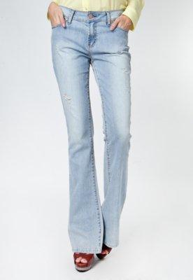 Calça Jeans Bobstore Flare Citty Azul