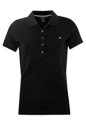 Camisa Polo Gant Basic Piquet Preta