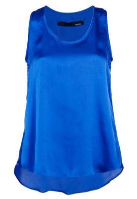 Blusa Sacada Pala Costas Azul