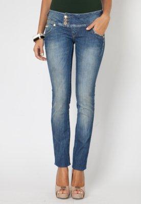 Calça Jeans Skinny Helen Bordado Glam Azul - Forum