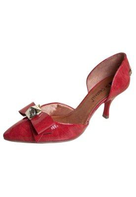 Sapato Scarpin Di Cristalli Bico Fino Salto Baixo Semi Abert...