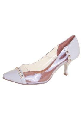 Sapato Scarpin Di Cristalli Tachas Branco
