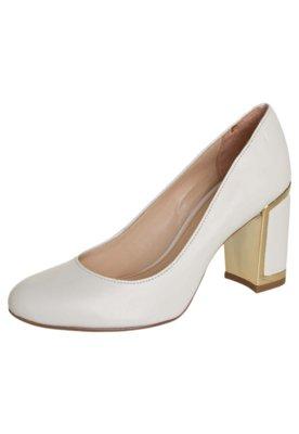 Sapato Scarpin Jorge Alex Salto Grosso Liso Branco