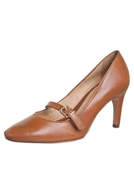 Sapato Scarpin Datelli Pulseira Horizontal Marrom