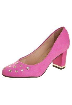 Sapato Scarpin Moleca Flex Class Rosa