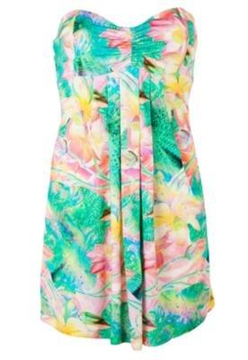 Vestido Reto Pregas Floral - Triton