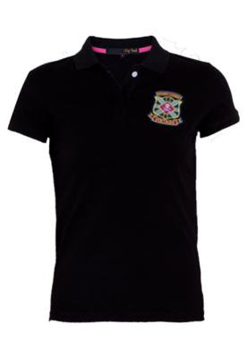 Camisa Polo Pop Touch Rugby League Preta