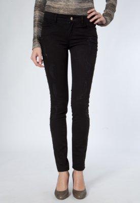 Calça Jeans Casual 284 Skinny Day By Day SPikes Preta
