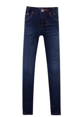 Calça Jeans Calvin Klein Kids Skinny Pespontos Azul