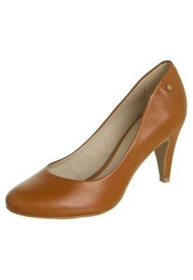 Sapato Scarpin Capodarte Salto Médio Básico Caramelo