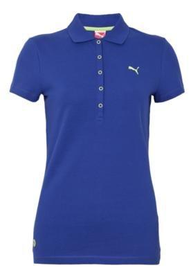 Camisa Polo Puma Ess Basic Azul