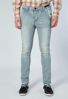 Calça Jeans Reta Handbook Pustique Azul
