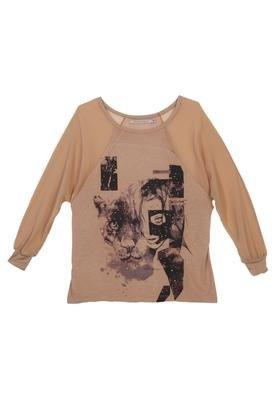 Blusa Leon Bege - Espaço Fashion