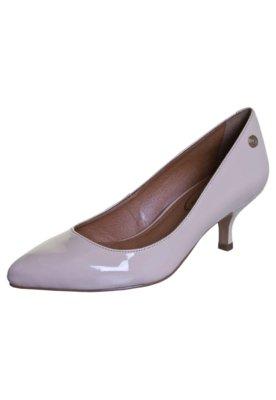 Sapato Scarpin Bico Fino Salto Baixo Nude - Corso Como