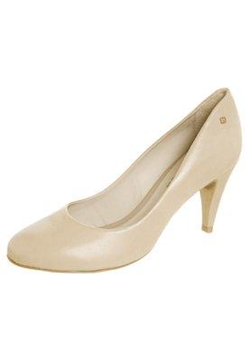 Sapato Scarpin Básico Salto Médio Bege - Capodarte