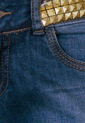 Calça Jeans D.viller Cigarrete Tachas Azul