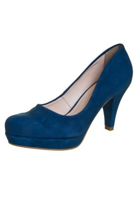Sapato Scarpin Bottero Salto Médio Meia Pata Azul