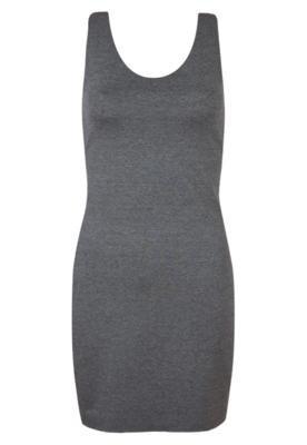 Vestido Redley Recortes Cinza